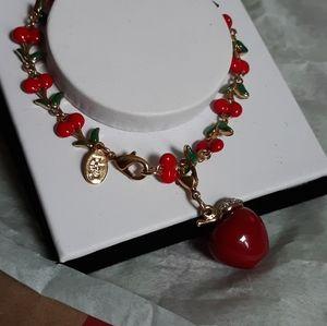 Vintage Rare Joan Rivers Cherries Bracelet